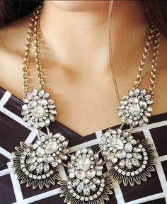 Vintage Crystal Chews Statement Necklace from Mint and Lolly