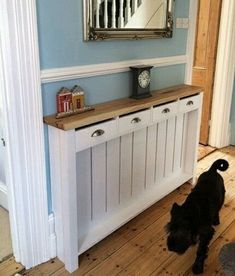 Small medium large handmade to measure radiator cover cabinet wooden bespoke ! in Home, Furniture & DIY, Heating, Cooling & Air, Radiator Covers Hallway Shelf, Hallway Cabinet, Hallway Storage, Decor Home Living Room, Home And Living, Custom Radiator Covers, Radiator Shelf, Baseboard Heater Covers, Comfy Cozy Home