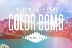 These are really pretty and would be great for making book teasers or as part of a book cover.  Check out COLOR BOMB VOL. 1 by INSTANT VINTAGE on Creative Market