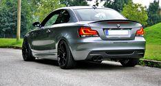 Grey w/ black wheels. Gold Wheels, Black Wheels, 135i Coupe, Custom Bmw, Bmw M1, Bmw Alpina, Bmw 1 Series, Bmw Classic, Car Mods