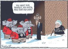 Best Barack Obama Cartoons of All Time: Budget Negotiations