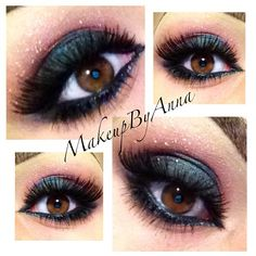 Urban Decay- loaded eyeshadow on my lid, Mac cranberry on my crease (don't use too much) INGLOT loose glitter #54 Mac Mystery pencil on the bottom waterline with 119 lashes (beauty store brands) and few individual lashes on the bottom outer corners.
