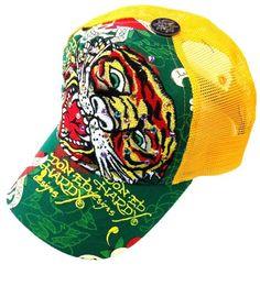 New Ed Hardy By Christian Audigier Roaring Tiger Rhinestone Trucker Hat Cap