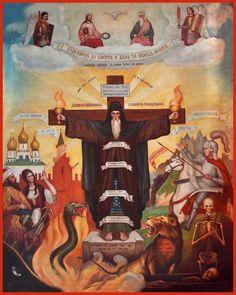 Depiction of the Monastic Struggle Orthodox icon