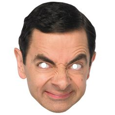 Mr Bean Mask - Celebrity Face Masks (each): Join the latest craze and become a celebrity for the Night! This life size face mask comes with eye holes and elastic fastening