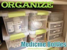 30 Brilliant Bathroom Organization and Storage DIY Solutions - Page 6 of 30 - DIY & Crafts Organize Medicine, Medicine Storage, Medicine Cabinet Organization, Storage Organization, Organizing Ideas, Organising, Organisation, Household Organization, Bathroom Organization