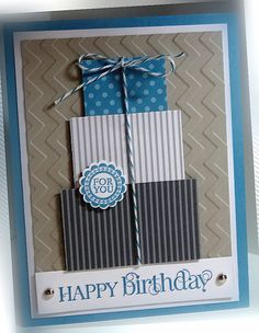 Birthday card, can be more fem or masculine depending on colors                                                                                                                                                                                 More