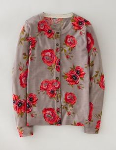 printed cardigan. (pink floral.) boden. 88.
