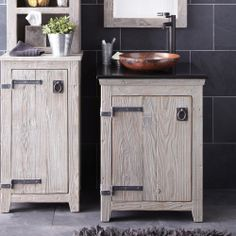 Americana Vanity in Driftwood - Americana Collection - Bath Furniture - Bath