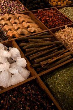 Spices at the spice souk, Dubai,