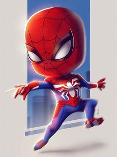 63 Ideas Digital Art Men Dreams For 2019 Marvel Comics, Chibi Marvel, Marvel Art, Marvel Heroes, Marvel Avengers, Avengers Cartoon, Baby Avengers, Black Spiderman, Iron Spider