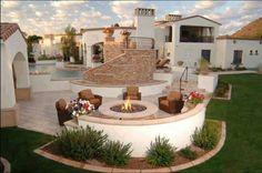 Garten Terrasse, Mediterraner Garten, Sitzecke, Outdoor Wohnzimmer, Outdoor  Plätze, Wohnräume, Terassenentwurf, Haus Design, Luxuswohnungen, ...