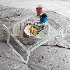 winsome wood breakfast bed tray with handle foldable legs | bed