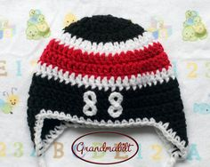 Ready For Sale Crocheted CHICAGO BLACKHAWKS HAT Baby Boys Hockey Playoffs Size Newborn with Patrick Kane's Number 88 on Front on Etsy, $15.00