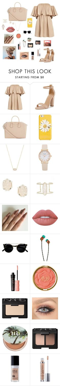 Nude by gabriellaallen on Polyvore featuring Givenchy, Kendra Scott, Kate Spade, Too Faced Cosmetics, Lime Crime, Urban Decay, NARS Cosmetics, Benefit, Milani and The House of Marley