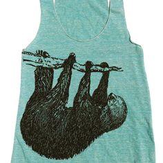 Sloth tank zzzzzzzzzzz www.shopartifactsgallery.com