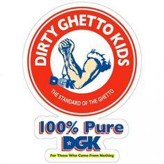 DGK STICKER Dirty Ghetto Kids Skateboard Decal