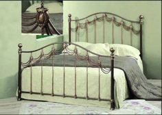 Queen-Amidale-Cast-and-Wrought-Iron-Bed Wrought Iron Beds, Platform Bed Frame, Queen, Furniture, Home Decor, Homemade Home Decor, Show Queen, Home Furnishings, Decoration Home