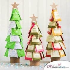diy geschenke Craft Ideas for DIY Gifts for Christmas, Tea Tree, Tree with Tea Christmas Gift You Can Make, Christmas Tea, Diy Christmas Gifts, Homemade Christmas, Candy Topiary, Navidad Diy, Ideas Navidad, Ideias Diy, Unique Gifts