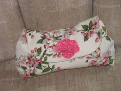 AnnieVintage 1940 Apple Blossom  Clutch by fancibags by fancibags, $50.00