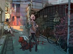 The Dark, Cyberpunk And Fantasy Paintings Of Jakub Rebelka – Design You Trust Arte Sci Fi, Street Art, Retail Signage, Concept Art World, Fantasy Paintings, Fantasy Art, Fantasy Illustration, Illustration Styles, Character Illustration