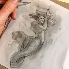 It's #Mermay again! #merman #telamon #atlas #architecture #doodle #fish #tail #baroque #sketch #sketchbook #pencilsketch #seagod #poseidon #triton #neptune #mermaid #graphite #hunk #kneadederaser #fishscales #analogart