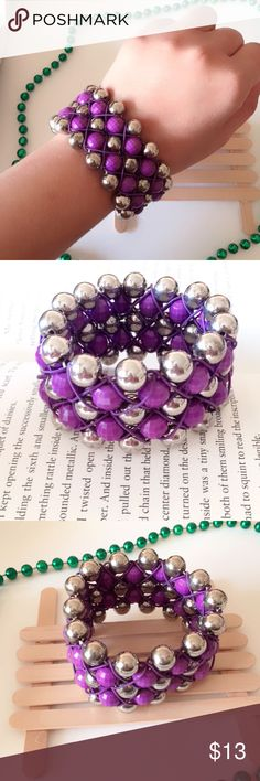 3 for $25 Stretchable Purple & Gray Wide Bracelet Stretchable Purple and Gray Wide Bracelet. Bundle and save. Bundle any 3 items priced $13 and under and send me an offer of $25. Jewelry Bracelets