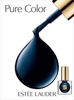 Este Lauder Blue Blood #nailart