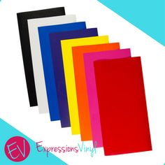 "Eliminate your fear of vinyl forever - If you're a vinyl crafting wannabe and suffer from ""vinyl-phobia"", then you need the Expressions Vinyl Heat Transfer Vinyl Practice Pack! It will have you up and crafting like a pro in a flash!"