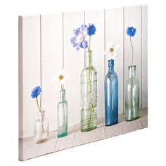 Vintage Bottles Canvas Wall Art - Masters Home Improvement
