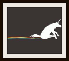 Unicorn Butt Scoot Rainbow Cross Stitch Pattern