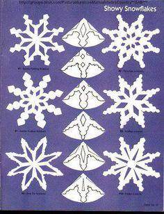 Copos de nieve.