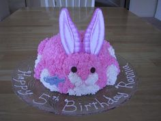 Another of the cake that had to look like my daughter's stuffed bunny.