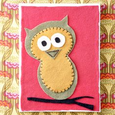 Retro Owl Artwork - Brie would adore making one of these for our new baby