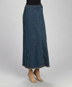 Love this Vintage Denim Maxi Skirt - Women by be-girl on #zulily! #zulilyfinds