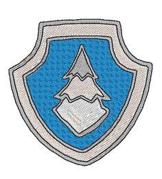 Paw Patrol Everest badge embroidery design by JoliKrea on Etsy