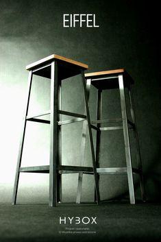 Krzesło barowe EIFFEL doskonale nadaje się do stylowych i nowoczesnych aranżacji oraz gustownych i wysublimowanych wnętrz inspirowanych wzornictwem przemysłowym. EIFFEL posiada ergonomiczną budowę z optymalnie zaprojektowanym podnóżkiem i stabilną spawaną konstrukcją. Doskonale sprawdzi się zarówno w każdej restauracji, na eventach jak również w zastosowaniach domowych jak wyspa kuchenna czy przy wysokiej konsoli czy blacie. Bar Stools, Magazine Rack, Cabinet, Storage, Furniture, Home Decor, Console, Bar Stool Sports, Clothes Stand