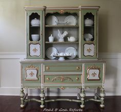 Antique Painted Jacobean Sideboard with by PosheBGoshRefurbs