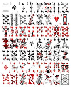 seriously amazing artwork by Emanuel Jose. he created an entire deck of two feet tall playing cards in and is creating another deck this year. Playing Card Crafts, Unique Playing Cards, Aces And Eights, Feed Rss, Divination Cards, Harlequin Pattern, Dad Tattoos, Custom Decks, Diy Crafts Hacks