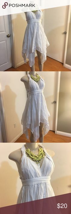 Guess Cotton and Silk Flared Dress Cute little dress  Size 0  Off white color  Measurements  Length 34 inches Chest 32 inches Waist 26 inches  Great condition  Please measure yourself before buying anything from my closet! Guess Dresses