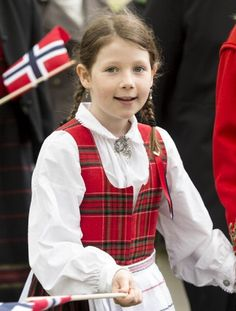 Maud Angelica Behn, oldest daughter of Princess Martha Louise and Ari Behn takes part in a parade in Southwark Park as she celebrates 2013 Norway National Day in London, England