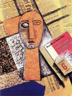 Composizione con figura femminile  - Carlo Carra. Italian (1881 -1966 )