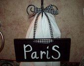 Paris decor... Shabby chic decor...Paris Apartment...Paris sign