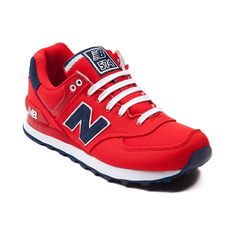b77d29191110 Shop for Womens New Balance 574 Athletic Shoe in Red Navy at Shi by Journeys .
