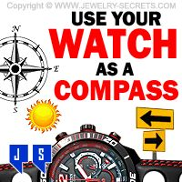 ►► USE YOUR WATCH AS A COMPASS ►► Jewelry Secrets