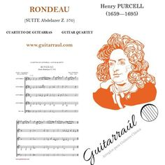 Rondeau (PURCELL) Guitar quartet sheetmusic Score & parts: http://www.guitarraul.com/p/131/rondeau-purcell