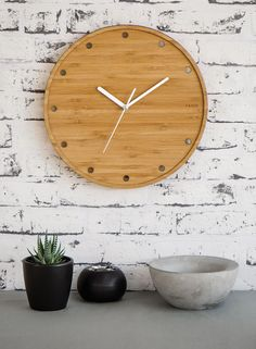 Products   Home Decor by Yano Designs - Designed & made with ♥ in Melbourne, Australia   Bamboo Clock - Dots