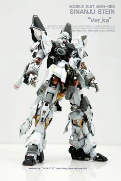 MG 1/100 Sinanju Stein Ver. Ka [Open Hatch] - Customized Build     Modeled by Acoustic