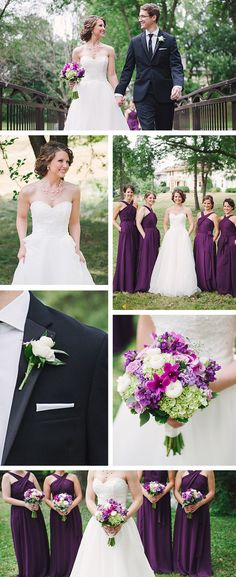 Love everything about this wedding. Great inspiration for a purple wedding   Adam Kennedy Photography