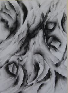 Abstraction Piece  Charcoal on rag paper.   Artist: Brittney Bowers